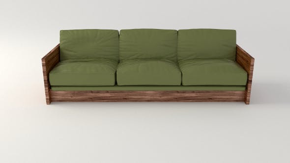 Olive Sofa - 3DOcean Item for Sale
