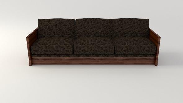 Retro Cloth Sofa - 3DOcean Item for Sale