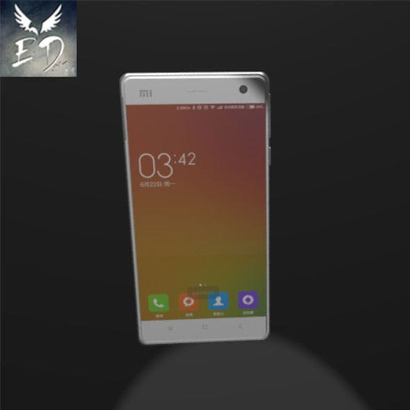 XiaoMi 4 Phone Model - 3DOcean Item for Sale