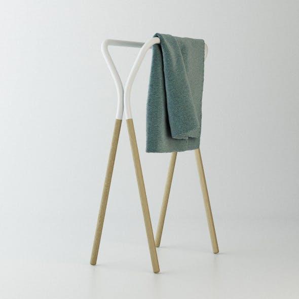 west elm Towel Rack C4D + vray
