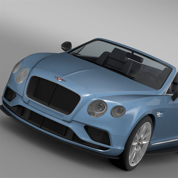 Bentley Continental GT V8 S Convertible 2015 By Creator_3d