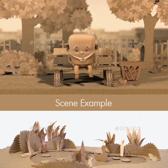 44 Handmade Cardboard City Scene Textures