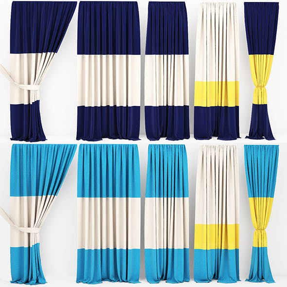 Curtain collection 09 - 3DOcean Item for Sale