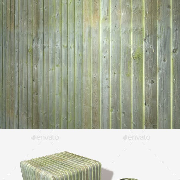 Mossy Wooden Planks Seamless Texture