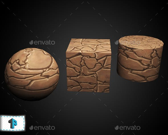 Hand painted ground rocks texture - 3DOcean Item for Sale