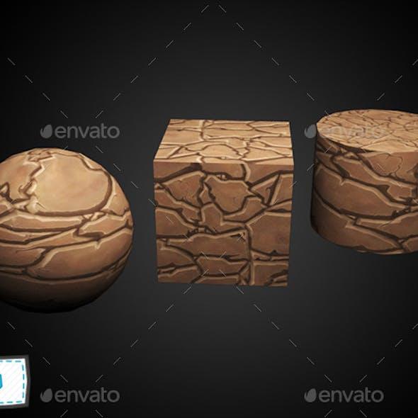 Hand painted ground rocks texture