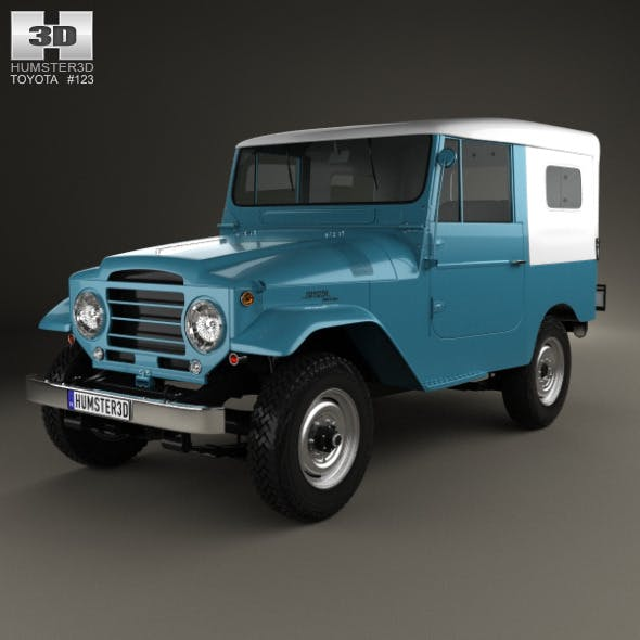 Toyota Land Cruiser (J20) softtop 1958 - 3DOcean Item for Sale