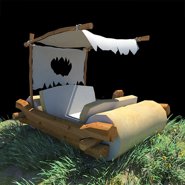 Low Poly Fred Flintstones Car - 3DOcean Item for Sale