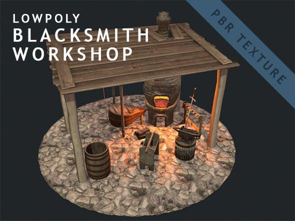 Low Poly Blacksmith Workshop (PBR) - 3DOcean Item for Sale