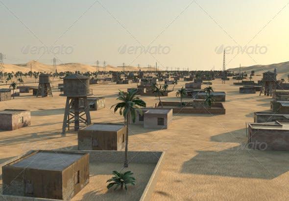 Arab village - 3DOcean Item for Sale