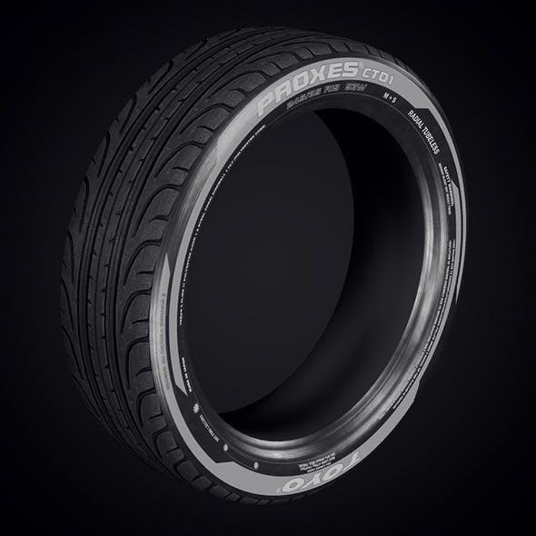 low poly tyre