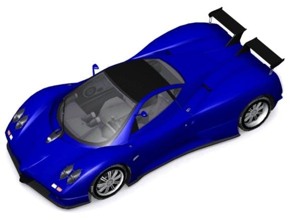 Pagani Zonda S 7.3 - 3DOcean Item for Sale
