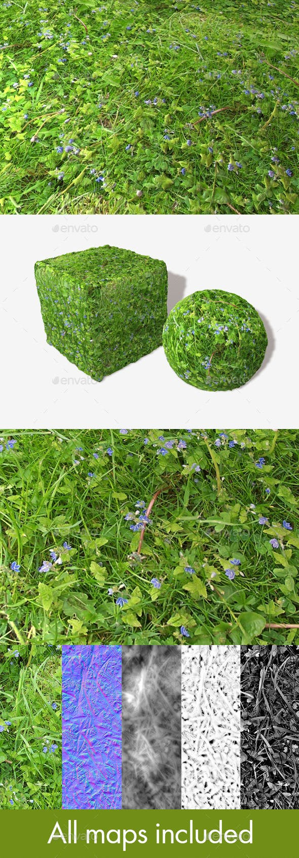 Plants Weeds Grass Seamless Texture - 3DOcean Item for Sale