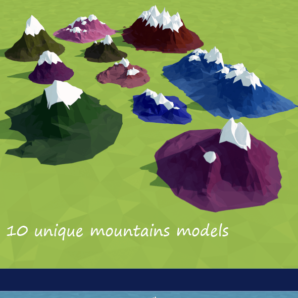 Low Poly Mountains Pack