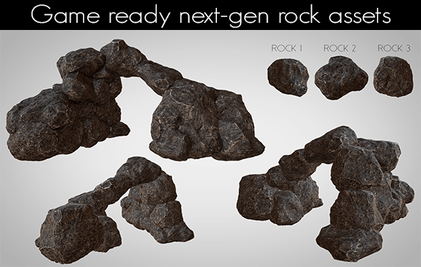 Next-gen AAA Rocks - 3DOcean Item for Sale