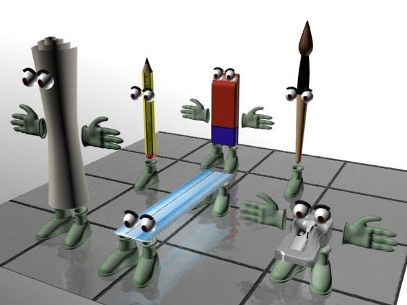Office Desk Gadgets - 3DOcean Item for Sale