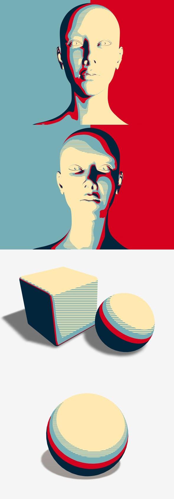 Stencil Pop Art - 3DOcean Item for Sale