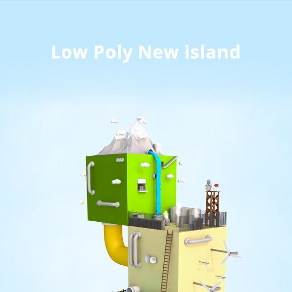 Low Poly New island