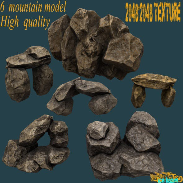Mountain_Set - 3DOcean Item for Sale