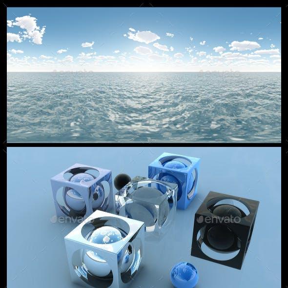 Ocean Blue Clouds 3 - HDRI
