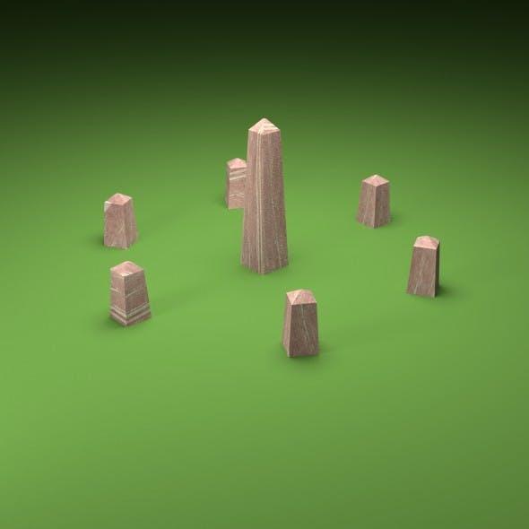 Obelisk and Stone Circle