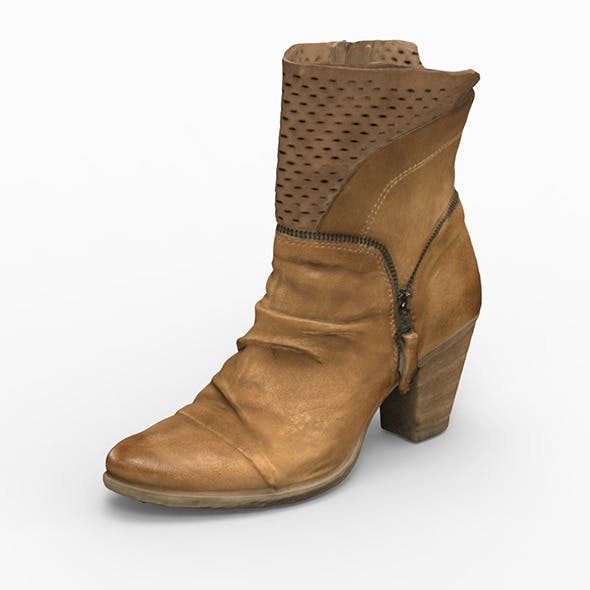 woman boot 3D Scanned