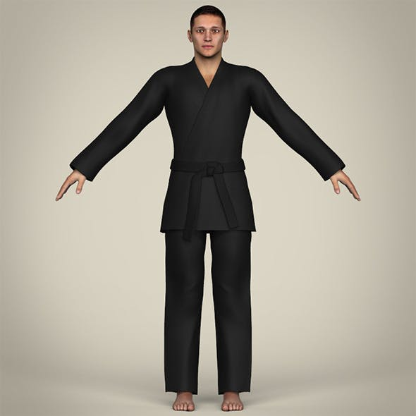 Realistic Male Karate Master - 3DOcean Item for Sale