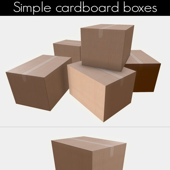 Simple game ready cardboard boxes