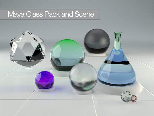 Maya Vray 2 0 Glass Pack by escapeephil | 3DOcean