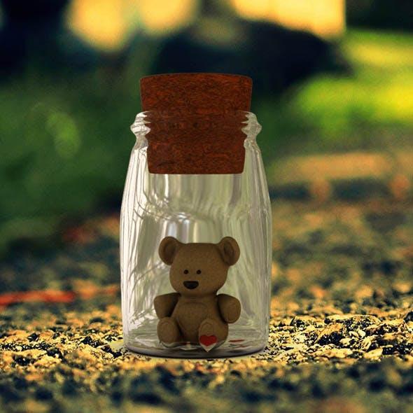 Teddy In Bottel - 3DOcean Item for Sale