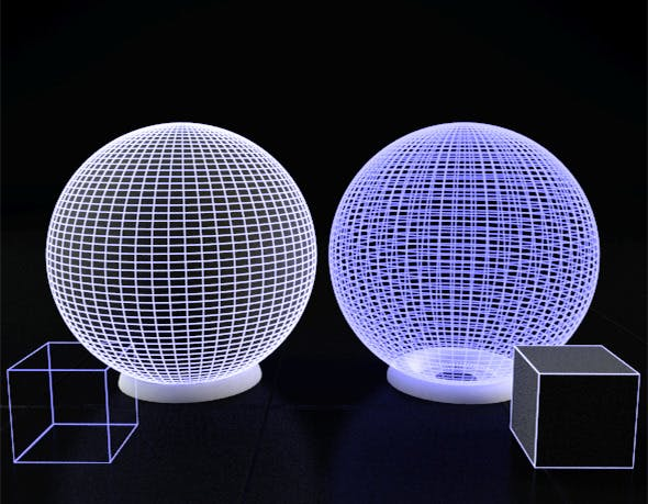 Maya Vray Illuminated solid and trans Wire shader - 3DOcean Item for Sale