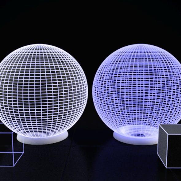 Maya Vray Illuminated solid and trans Wire shader