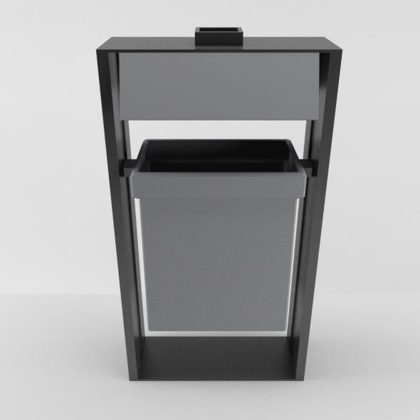 Outdoor Trash Can 02