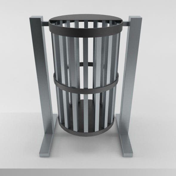 Outdoor Trash Can 01 - 3DOcean Item for Sale