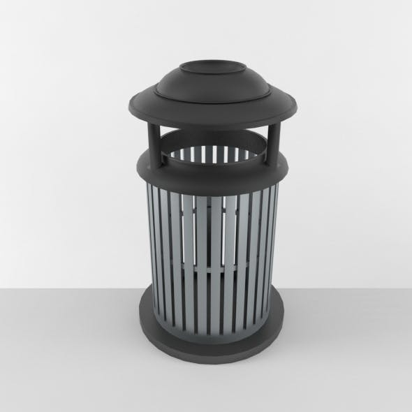 Outdoor Trash Can 03