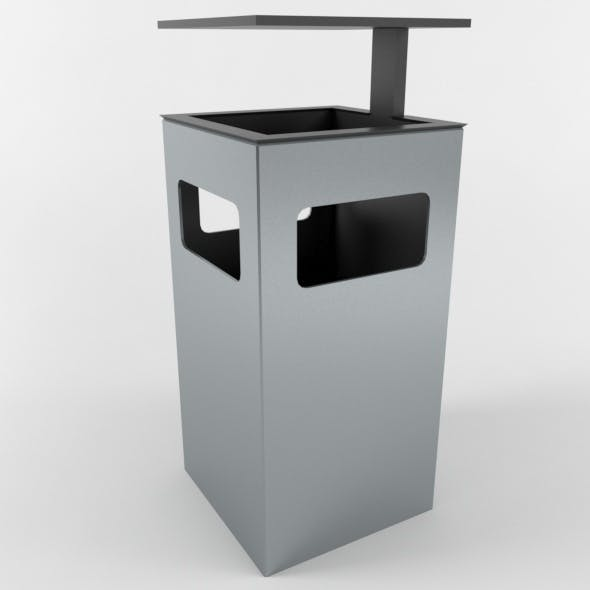 Outdoor Trash Can 04