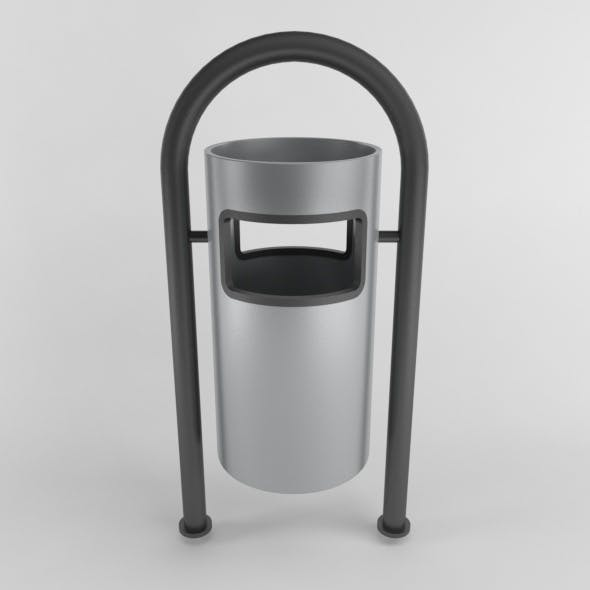 Outdoor Trash Can 05 - 3DOcean Item for Sale