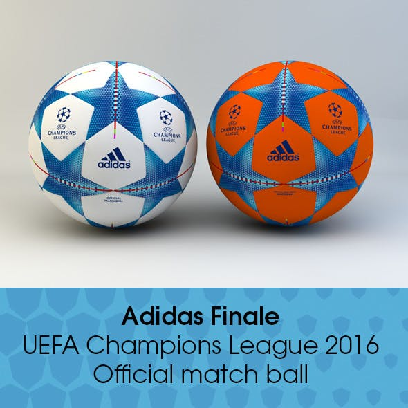 Adidas Finale 2015/2016 Champions League Ball  - 3DOcean Item for Sale