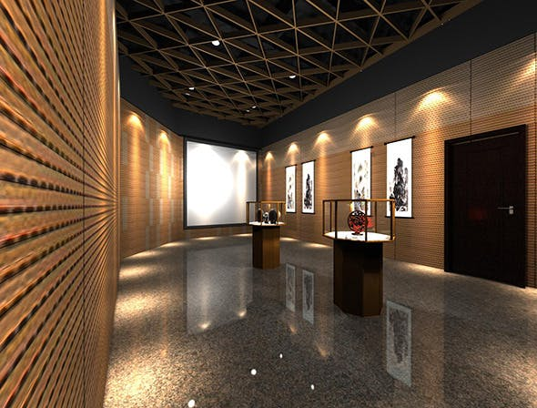 Exhibition Hall - 3DOcean Item for Sale