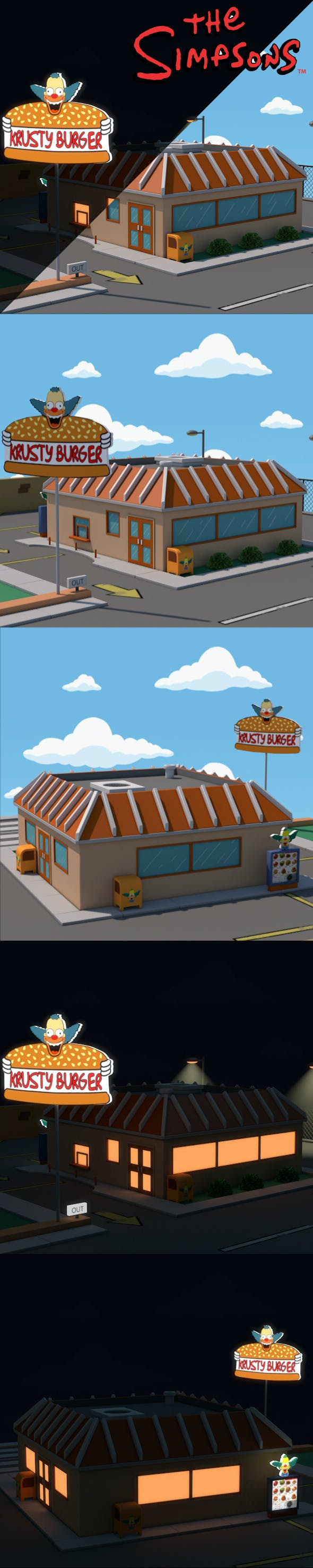 Krusty Burger - 3DOcean Item for Sale
