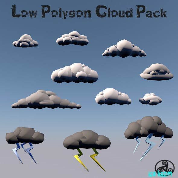 LowPolygon_Cloud_Set