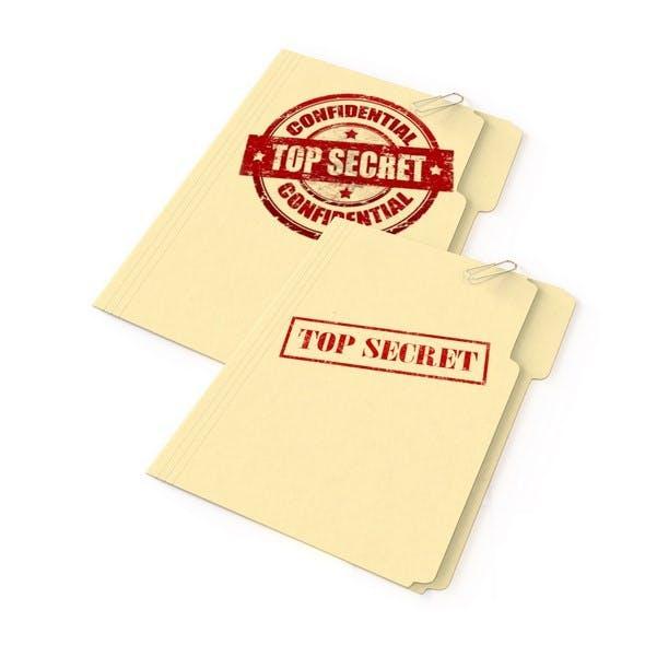 Top Secret Folder set of 2 - 3DOcean Item for Sale
