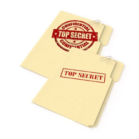 Top Secret Folder set of 2