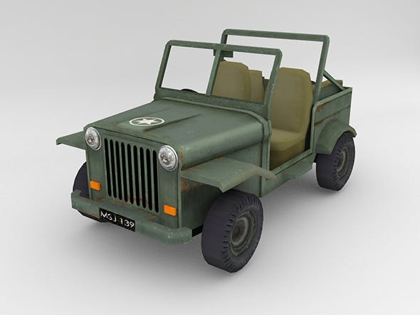 Army Jeep - 3DOcean Item for Sale