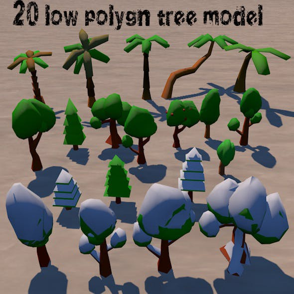 LowPolygon_Tree_Pack - 3DOcean Item for Sale