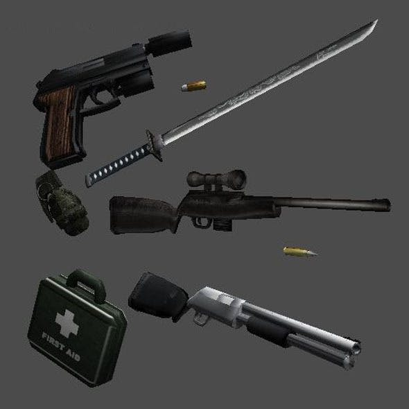 3D Models Weapons Pack for Games