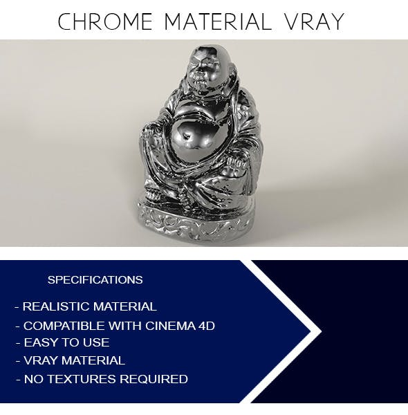 Chrome Material VRay - 3DOcean Item for Sale