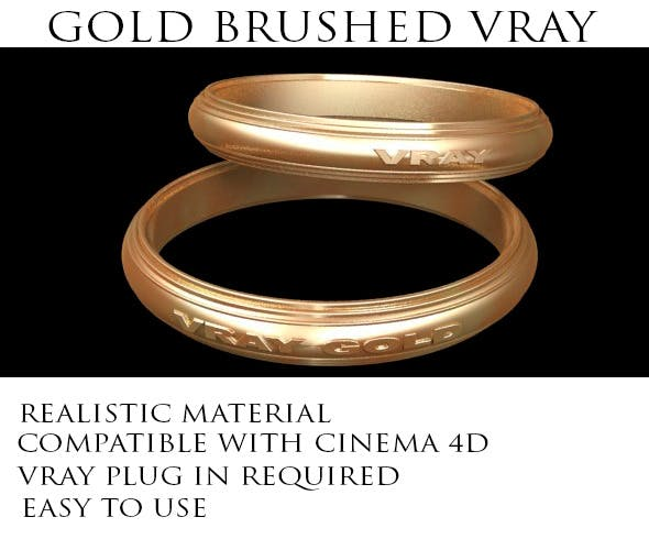 Gold Brushed VRay - 3DOcean Item for Sale