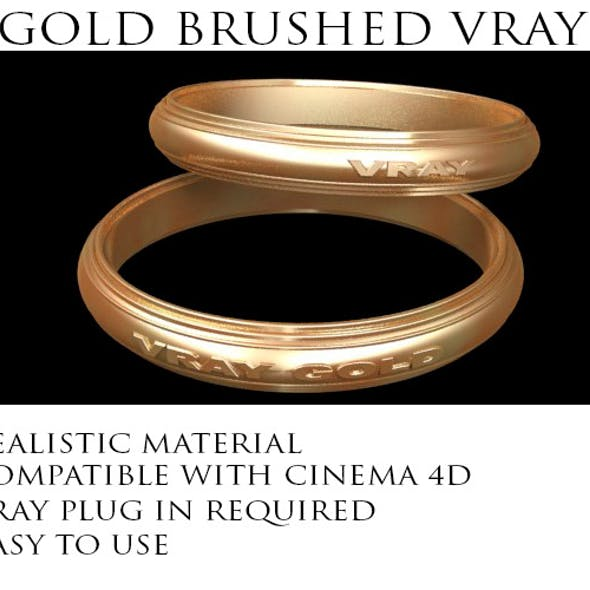 Gold Brushed VRay