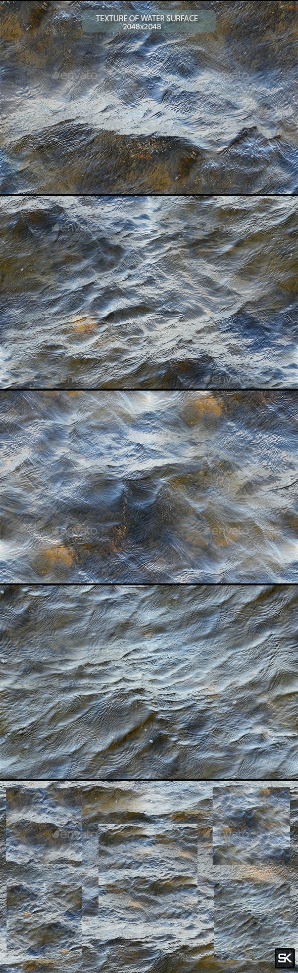 Texture Of Water Surface - 3DOcean Item for Sale
